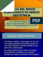 Shock Hemorragico en Obstetricia. - Dr. Patricia Urteaga Vargas (1)