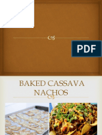 Sample Proposal Presentation - Baked Cassava Nachos