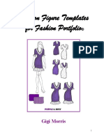 Fashion Figure Template Copyrights Gigi Morris