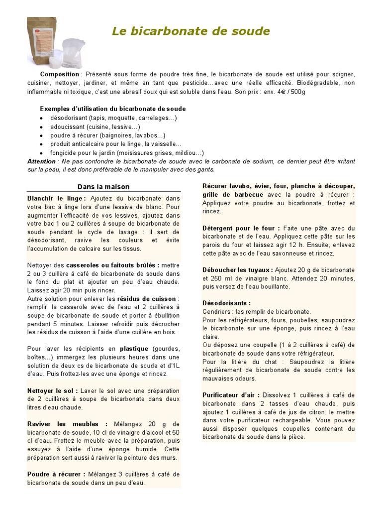 Bicarbonate De Soude Contre Les Pucerons je nettoie moins toxique (5 p.).pdf