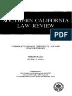 Corporate Finance in Law