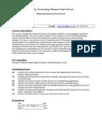 manufacturing practium syllabus