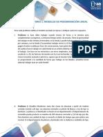 T1. Taller - Laboratorio Modelos de Programacion Lineal