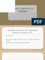 Terapia Ocupacional en Hemiplejia (