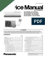 Panasonic CS-XC9CKH CS-XC12CKH Series Service Manual Repair Guide
