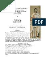 Campenhausen, Hans Von - Los Padres de la Iglesia - Los padres griegos.doc