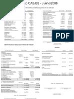 Prestação de Contas 6 - Junho 2008