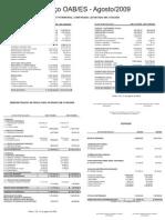 Prestação de Contas 14 - Agosto 2009