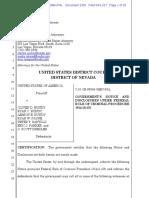 Bundy Prosecution Filing  9/11/2017