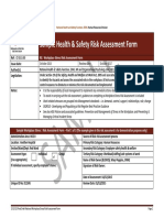 Sample Risk Assessment Form