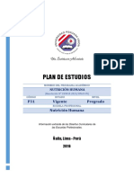 Plan de Estudios Nutricion Humana