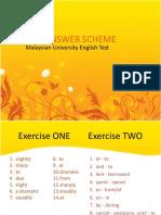 MUET Writing (Vocabulary Exercise) - Answer Scheme