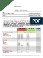 savannah mcreynolds updated skills checklist 2017