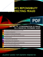 Auditors Reponsibility In Detecting Fraud