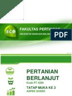 Fakultas Pertanian Pb Aspek Sossek Tm 1