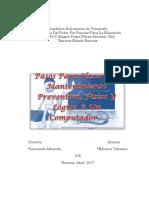 Pasos Para Hacer Un Mantenimiento Preventivo, Físico Y Lógico A Un Computador