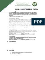 Determinacion de Nitrogeno Total
