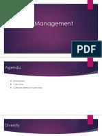 Diversity Management Presentation