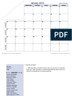 Monthly Menu Planner