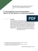 Investigacion Acción Participativa Aporte de Fals Borda