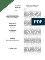 Lab 3. Propiedades Cualitativas de Aminoacidos y Proteinas