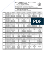 Jadwal Peljran Keseluruhan 2015-2016