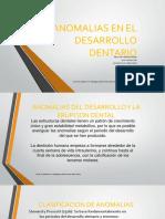 Anomalias en El Desarrollo Dentario