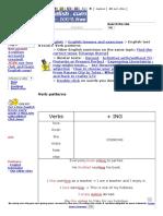 Verb Patterns English