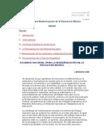 Acuerdo Nacional Para La Modernización de La Ecucación Básica