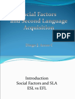 social Factors and SLA.pps