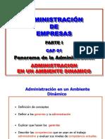 Administracion Parte Uno Cap 01 Panorama 2015-1