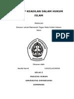 Konsep Keadilan Dalam Hokum Islam