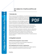 Code of Conduct and Ethics - Approved Dec 2015 Spanish (Lat Am) (1)