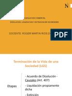 Disolucion, Liquidacion y Extincion Sociedades