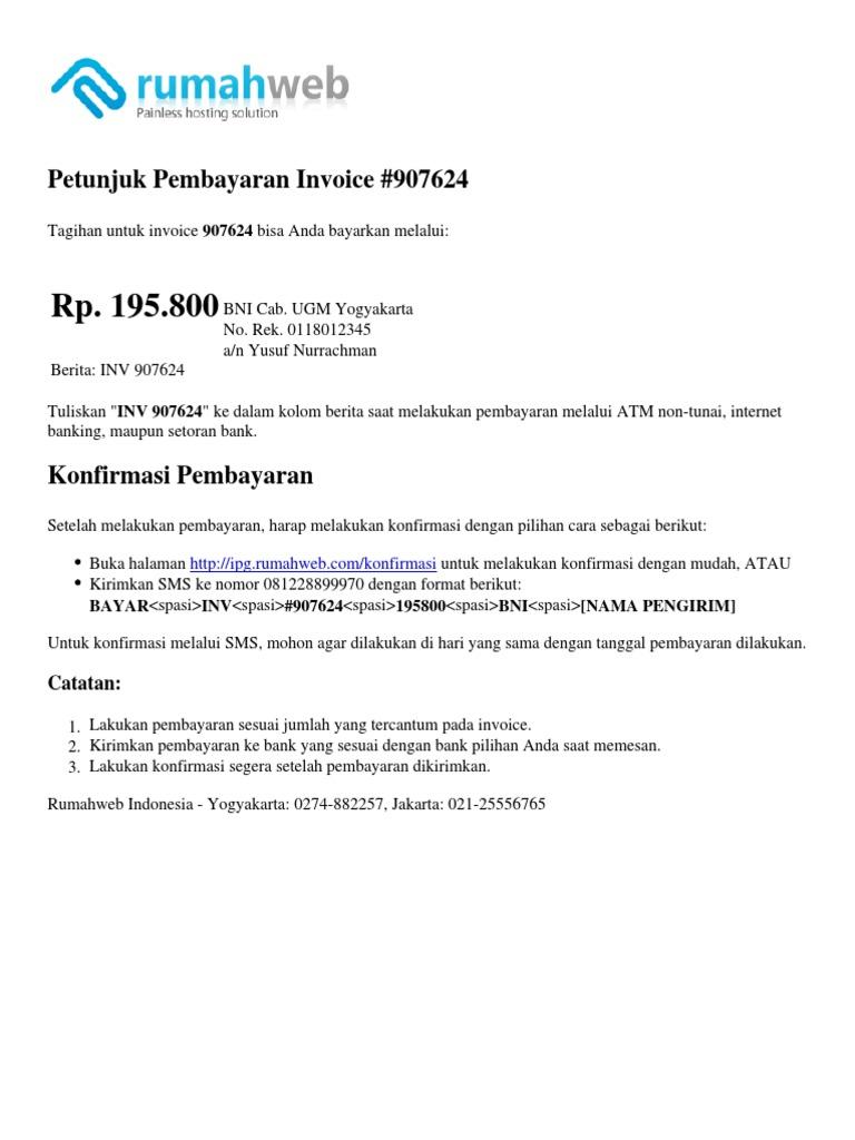 Instructionpdf 1 Konfirmasi Pembayaran