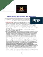 Military History Anniversaries 0916 Thru 093016