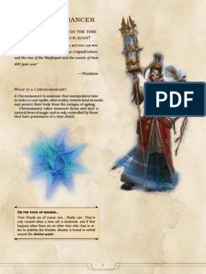 Chronomancer_(5e) pdf | Dungeons & Dragons | D20 System