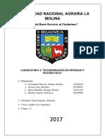 Informe 1 de Análisis de Alimentos Determinación de Humedad