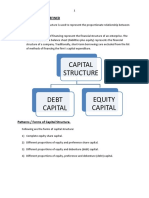 Theories of Capital Sructure