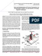 An Experimental Analysis and Optimization of Process Parameters on Friction Stir Welding of Dissimilar AA6061-T6 and AA6951-T6 using Taguchi Technique