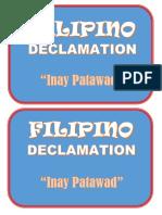 Deklamasyon Sa Filipino