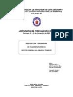 Perforación y Tronadura en Sector Esmeralda