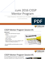 CISSP Mentor Program 2016 Session #1