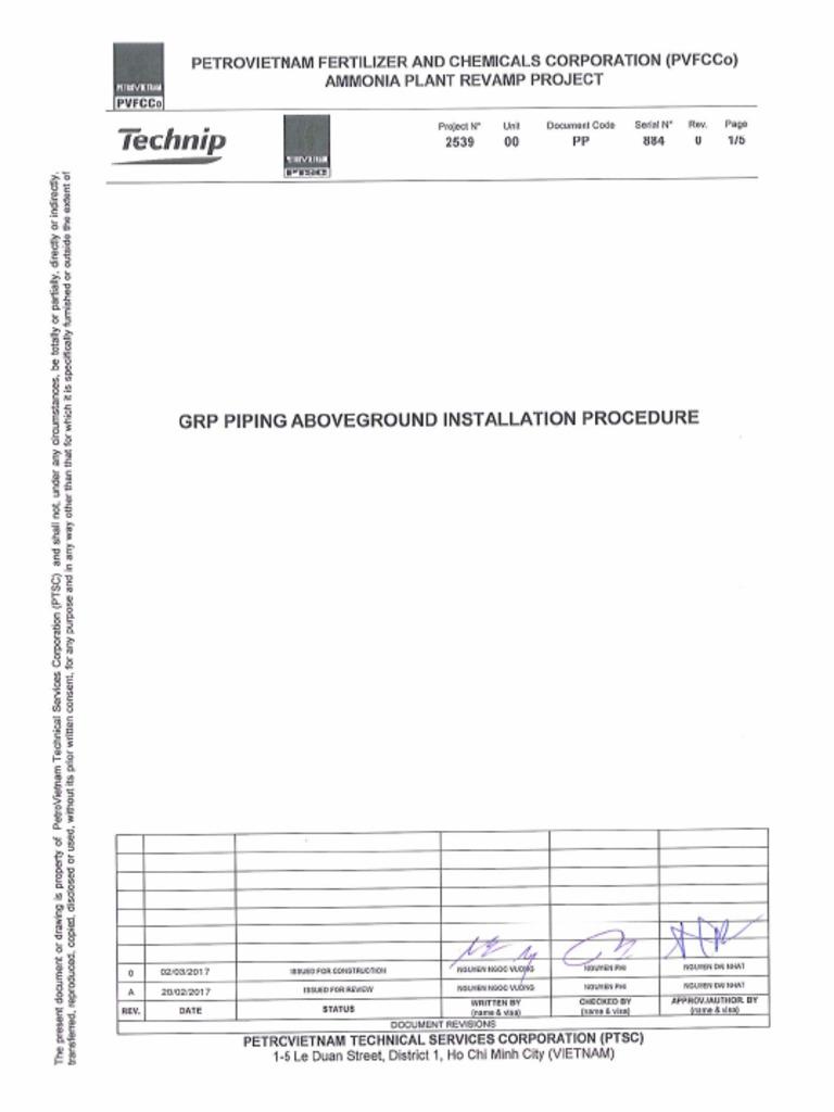 Ammonia Piping Installation Checklist - crisehigh
