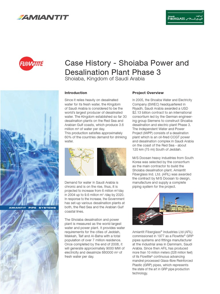 GRP Pipe Case History - Revised Shoiaba Eng Large Dia | Desalination
