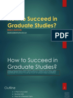 How to Succeed in Graduate Studies141