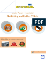 Power TRANSMISSION Rubber v Belts and Flat Belting