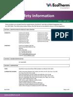 EcoTherm MSDS Sheet - April 2014