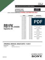 Схема и Сервис Мануал На Английском Sony Kdl-24r400a Шасси Rb1fk 9-883-556-51