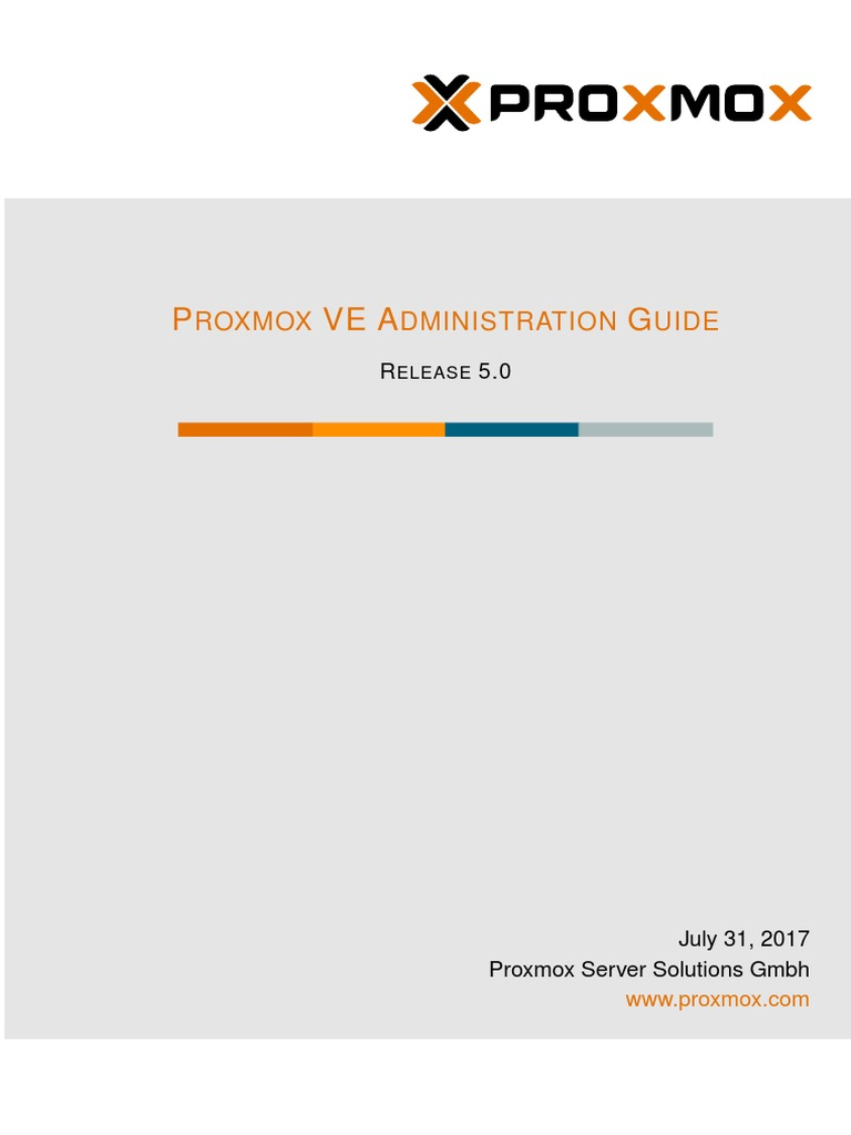 Pve Admin Guide | Computer Cluster | Virtual Machine
